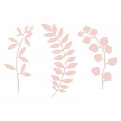 Déco branches feuilles roses