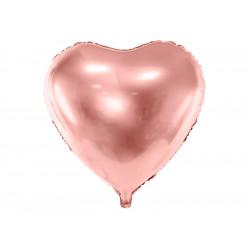 Ballon coeur rose gold 61cm