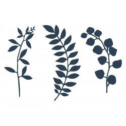 Déco branches feuilles bleues