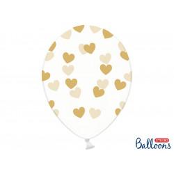 Ballons crystal coeur taupe (x6)