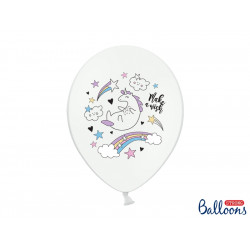 Ballons licorne pastel (x6)