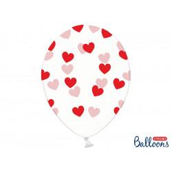 6 ballons cristal coeur rouge