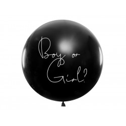 Ballon boy or girl bleu 1m