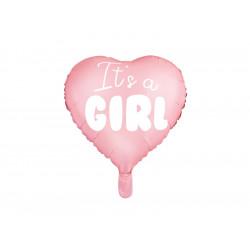 Ballon it' a girl coeur rose