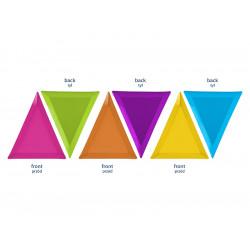 6 assiettes triangle