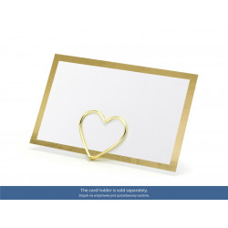 10 carte de table gold