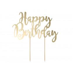Cake topper happy birthday Or
