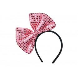 Serre tête noeud rose