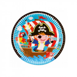 Assiettes Pirates (x8)