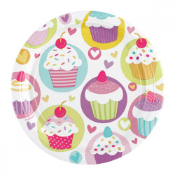 Assiettes cupcake (x8)