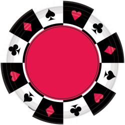 Assiettes poker 18cm (x8)