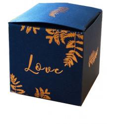 Boites marine et cuivre Love (x10)