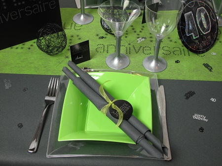 table anniverse verte 40 ans