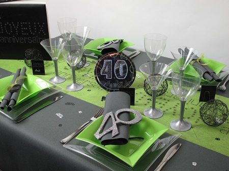 d corez votre table anniversaire 40 ans id es deco id f tes. Black Bedroom Furniture Sets. Home Design Ideas