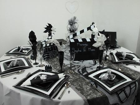 Votre d coration de table sur le th me du cin ma id es d co id f tes - Idee soiree a theme ...