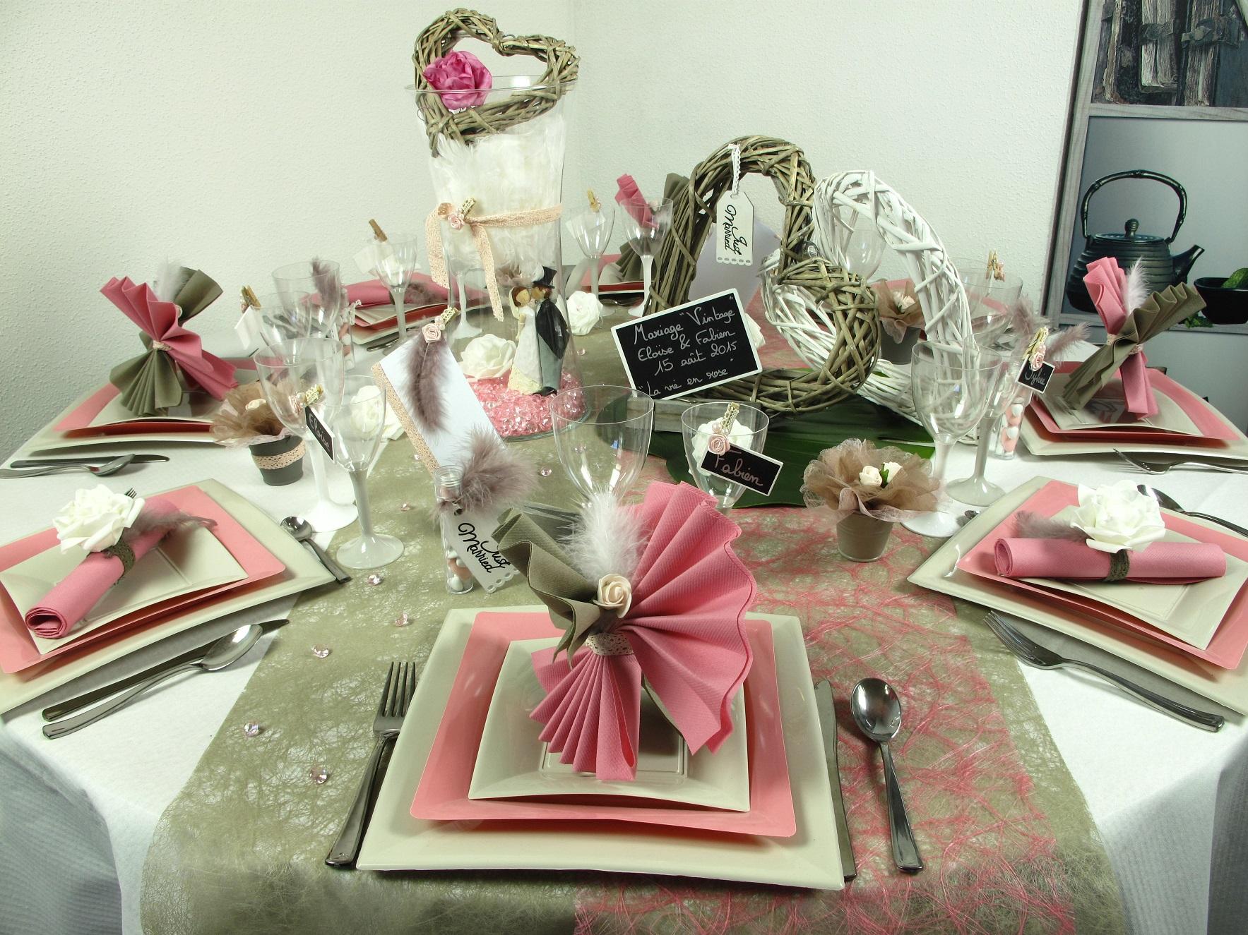 D co de table pour un mariage vintage id es deco id f tes - Decoration de table de mariage ...