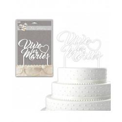 Cake topper Vive les mariés