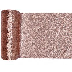 Chemin de table sequins rose gold 14cmx3m