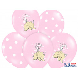 Ballons elephant rose (x6)