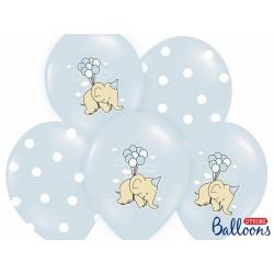 Ballons elephant bleu (x6)