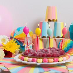4 bougies ballons pastel