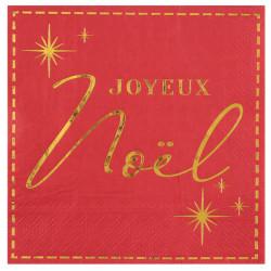 Serviettes joyeux noël rouge x20
