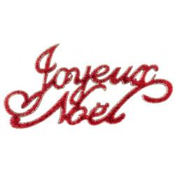 Confettis joyeux noël rouge