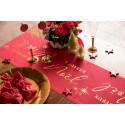 chemin de table lin noël rouge 3m