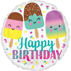 Ballon birthday ice cream