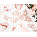 Assiettes blanche et pois rose gold