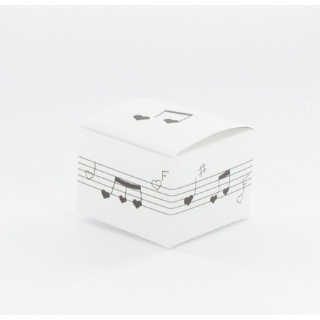 Boîtes candy musique blanc (x10)