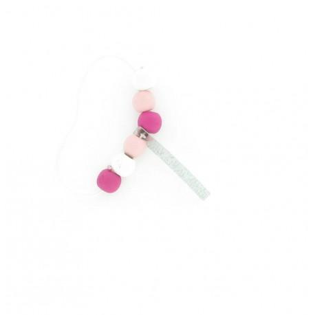Bracelets perles fuchsia (x4)