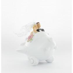 Tirelire mariés dans avion