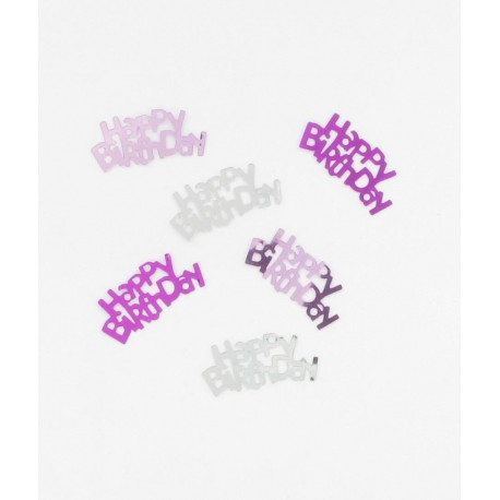 Confettis anniversaire roses
