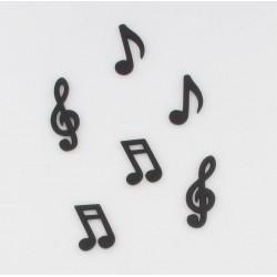 Notes de musique bois noires (x24)
