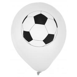 Ballons foot blanc (x8)