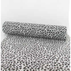 Chemin de table léopard blanc et noir 30cmx5m