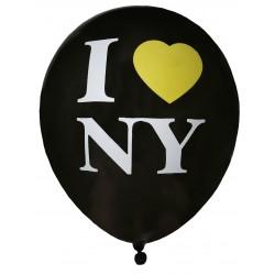 Ballons New York noirs (x8)