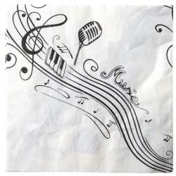 Serviettes musique (x10)