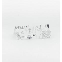 Cartes de table rock blanc noir (x10)