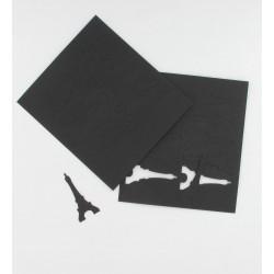 Confettis tour Eiffel noire (x60)