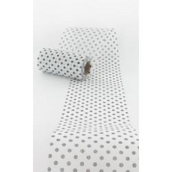 Chemin table pois noirs 10cmx10m