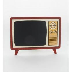 Ardoise menu poste télé vintage