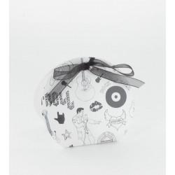 Boites louna rock blanc noir (x10)