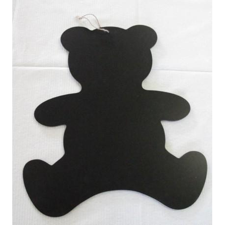 Tableau bois noir ours