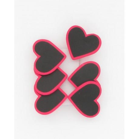 Coeurs  s/pince naturel (x6)