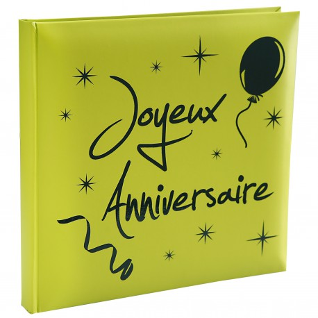 Livre d'or joyeux anniversaire vert