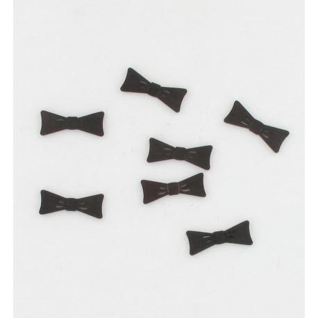 Noeuds pap. noirs bois 3cm (x24)