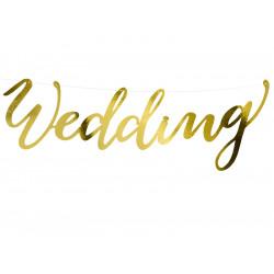 Banner wedding gold  45cm