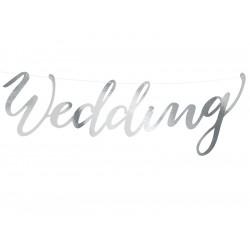 Banner Wedding argent 45cm